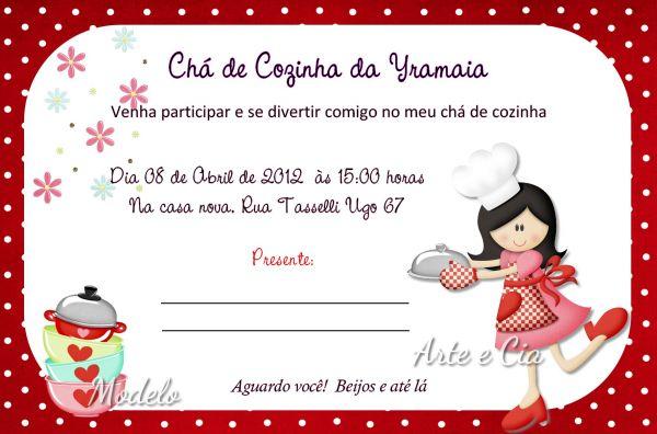 Convite Chá De Panela 02 Arte E Cia Personalizados